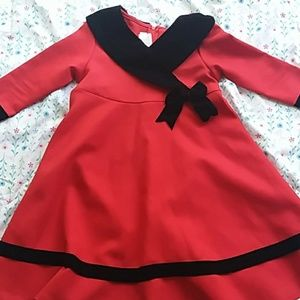 Truly adorable red and black dress
